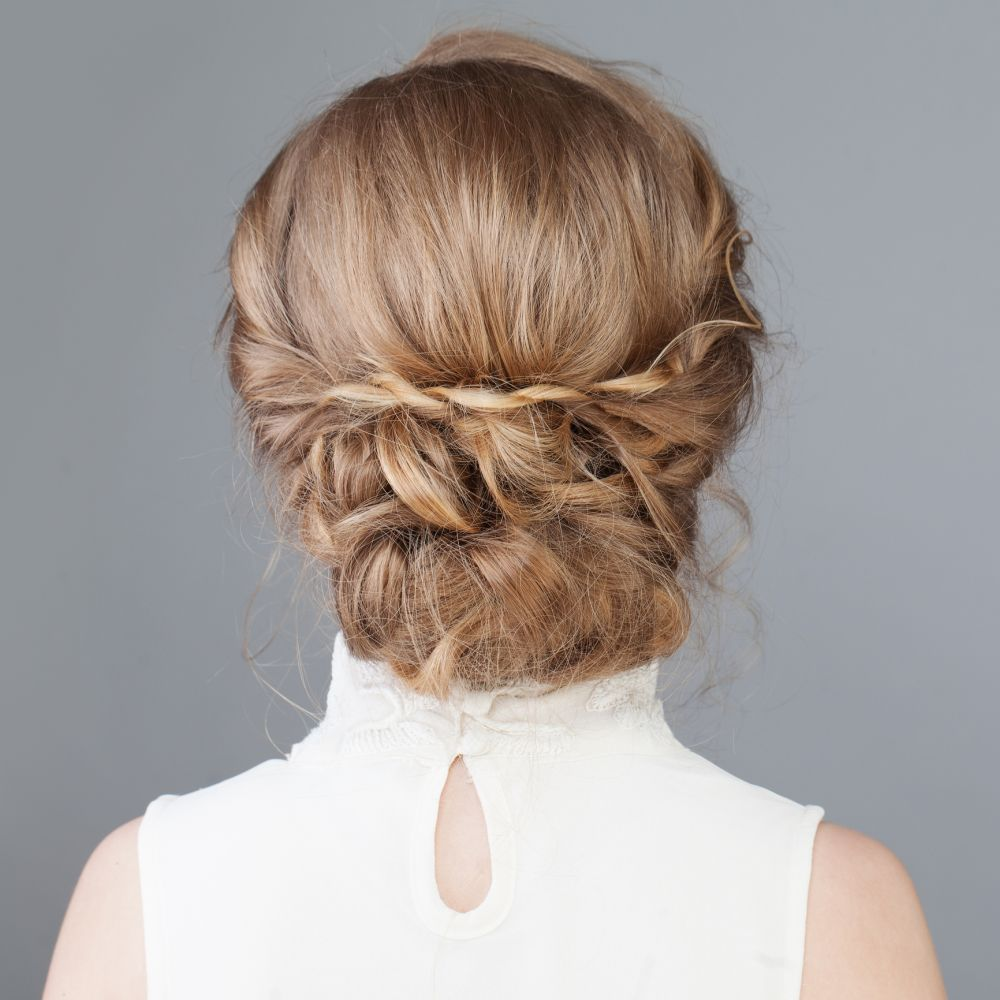 Formal hairstyle braided updo