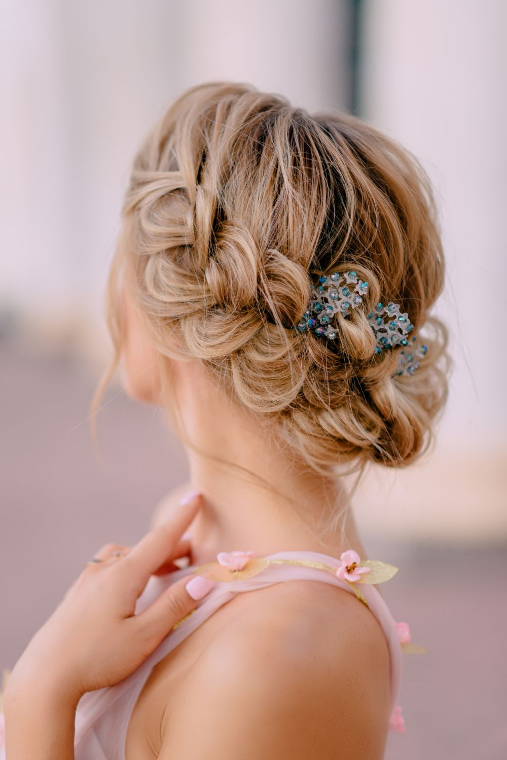 Hairstyle with braided hair