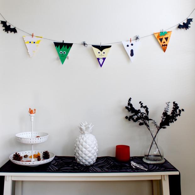Halloween bunting diy