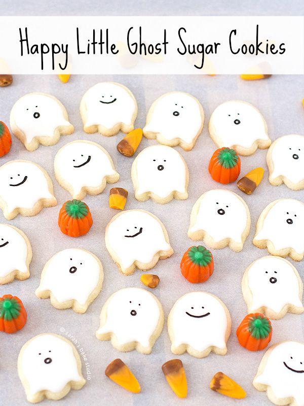 Happy little ghost sugar cookies