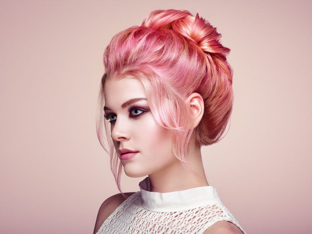 Pretty Pink Hairstyle