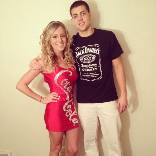 Jack and coke drink halloween costume