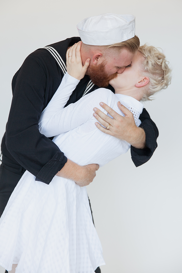 Kissing sailor costume