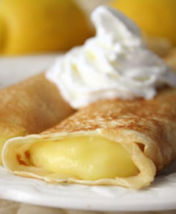 Lemon cream crepes
