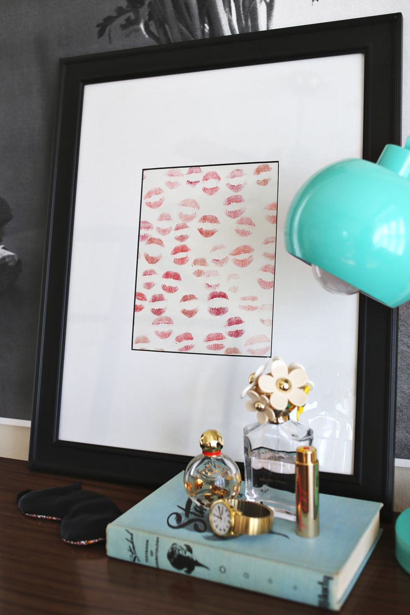 Lipstick diy art