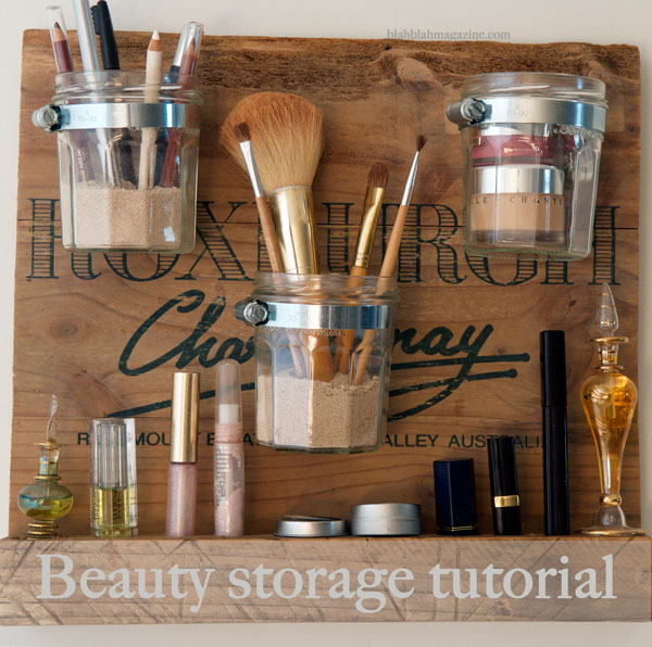 Makeup storage station diy