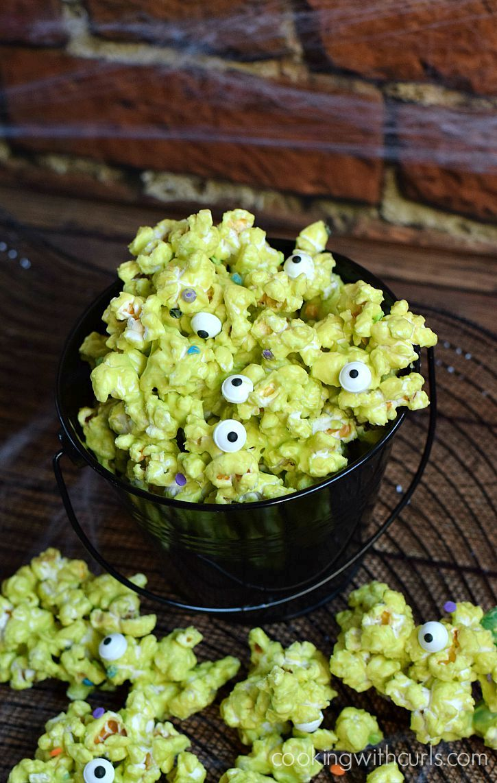 Monster mash popcorn halloween treats