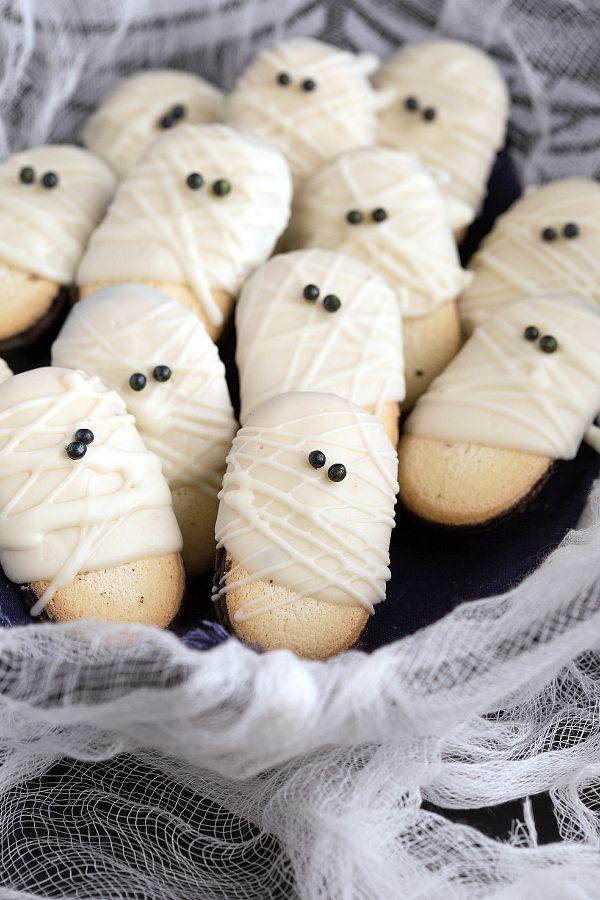 Mummy milanos halloween treats