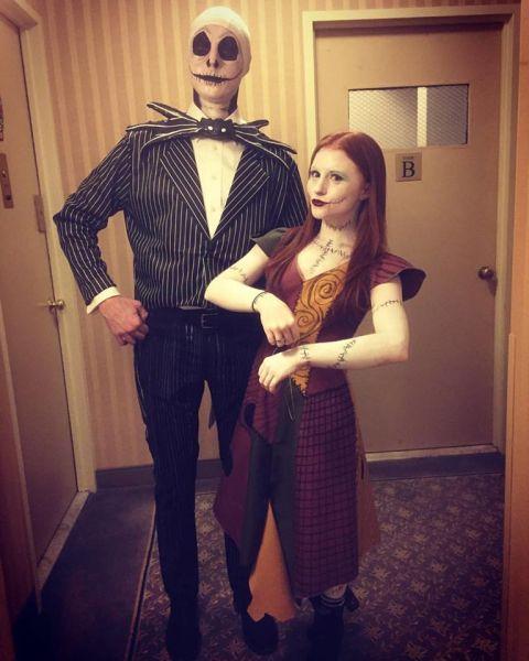 Cute Couple Halloween Costumes - Nightmare Before Christmas