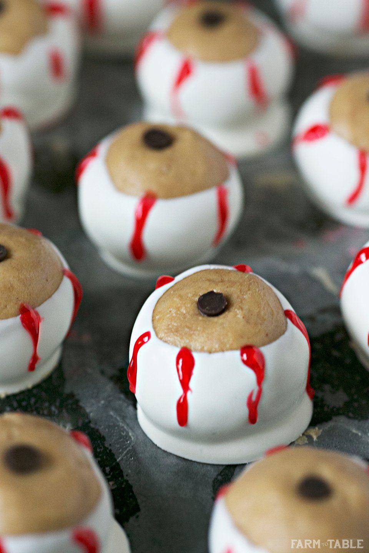 Peanut butter chocolate eyeballs