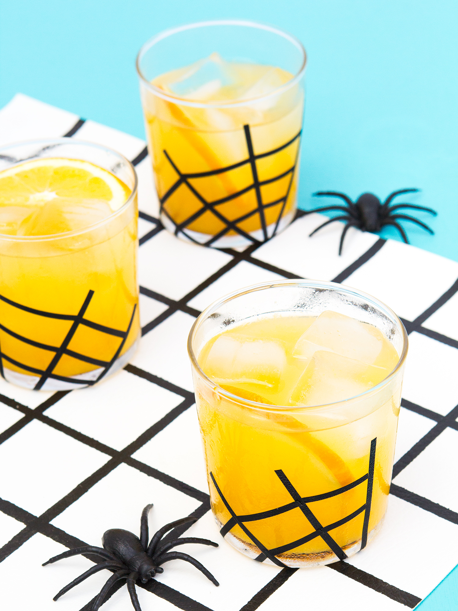 Spider web glassware halloween decor