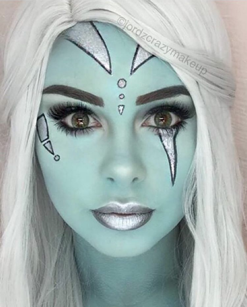 Star wars green halloween makeup