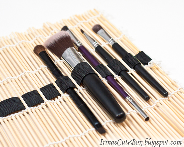 Sushi roll makeup brush holder diy