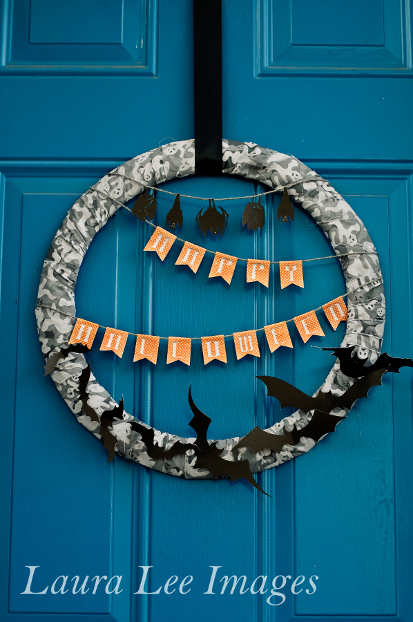 Swarm of bats halloween party decor