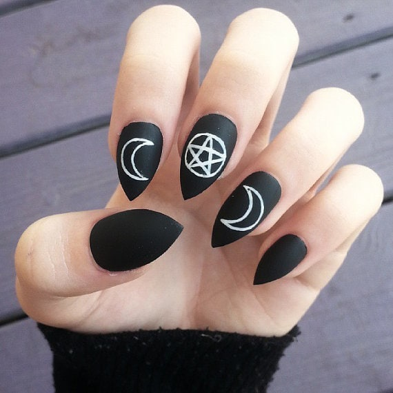 Witch symbol nail art