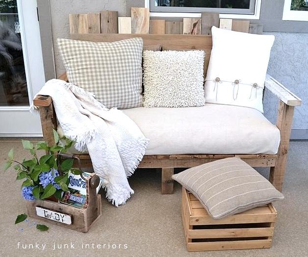 Wood pallet sofa diy