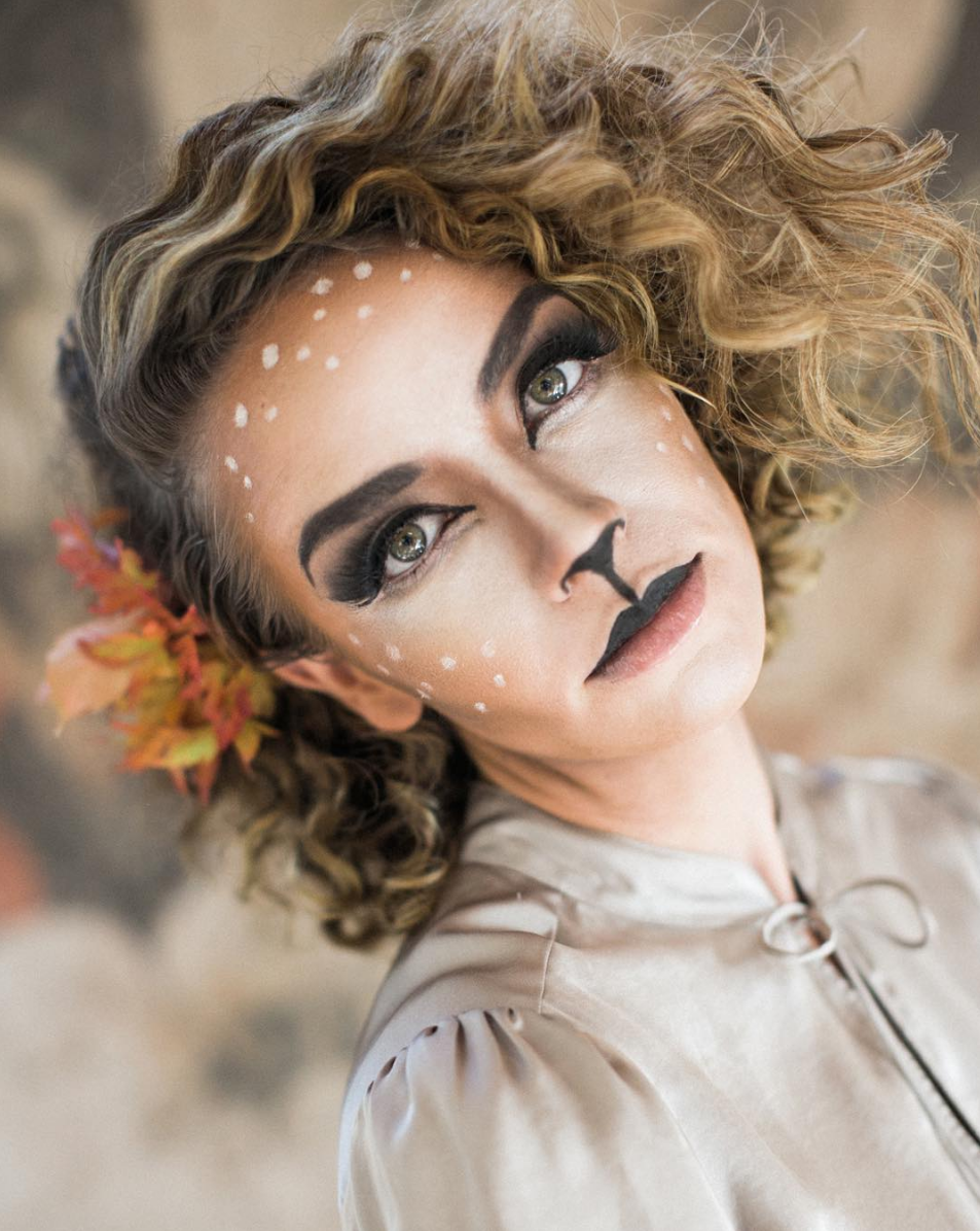 Woodland deer halloween makeup