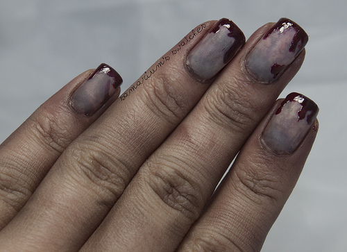 Zombie nails halloween