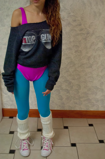 1980's workout girl outfit
