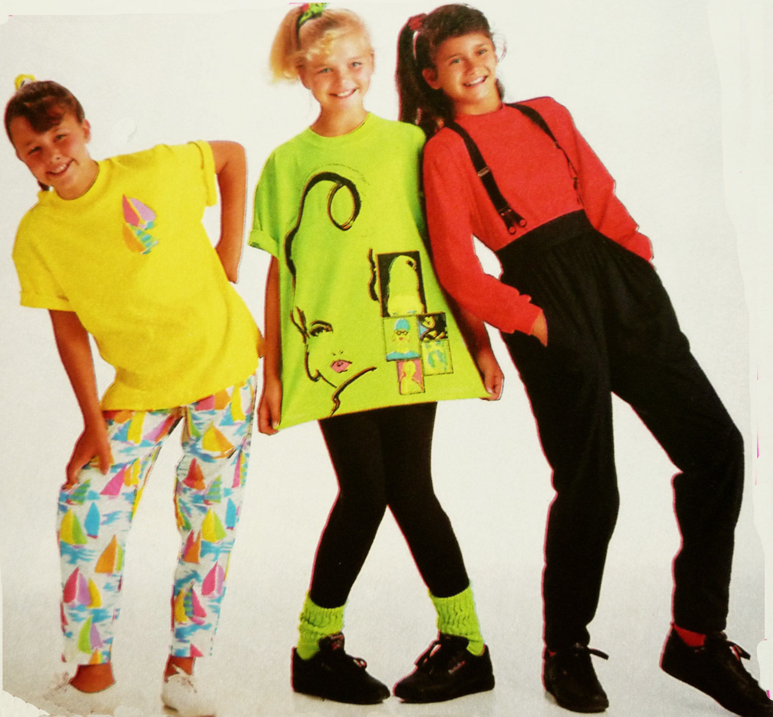 How did girls dress in the 80's?