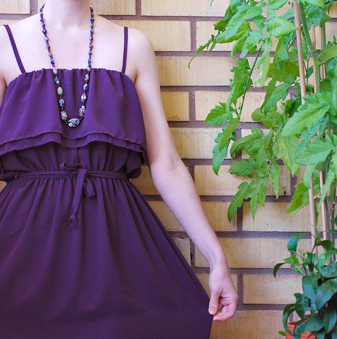 70s style chiffon dress