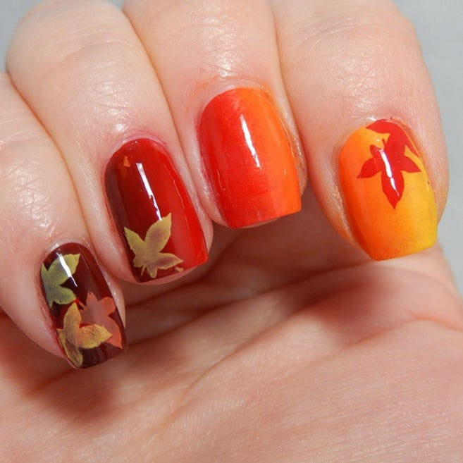 Simple Fall Nail Designs: 25 Thanksgiving Nail Art Ideas