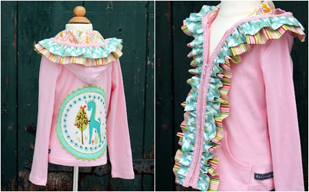 Applique and coloured ruffles