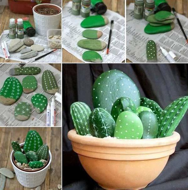 Artificial cactus garden