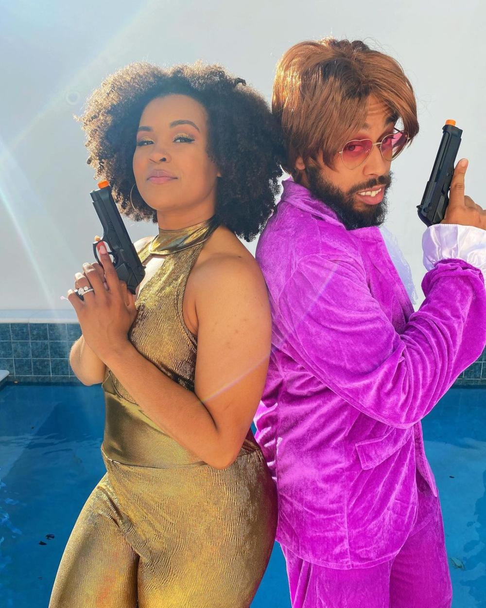 Austin Powers and Foxxy Cleopatra Couple Costume Ideas