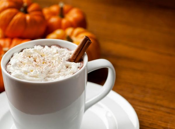 Autumn spiced brown sugar maple latte