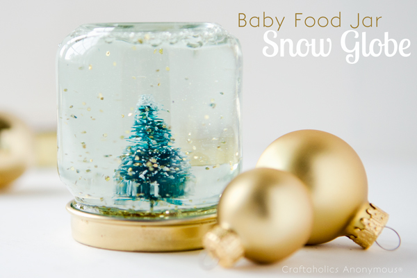 Baby food snow globe diy