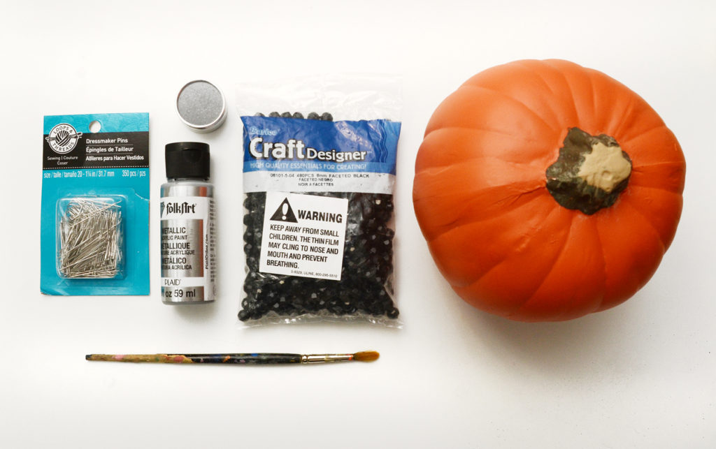 Beaded glam pumpkin materials