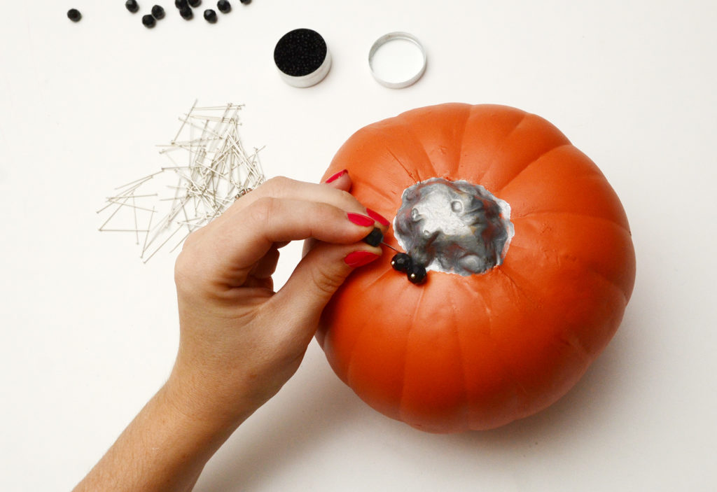 Beaded glam pumpkin step 3