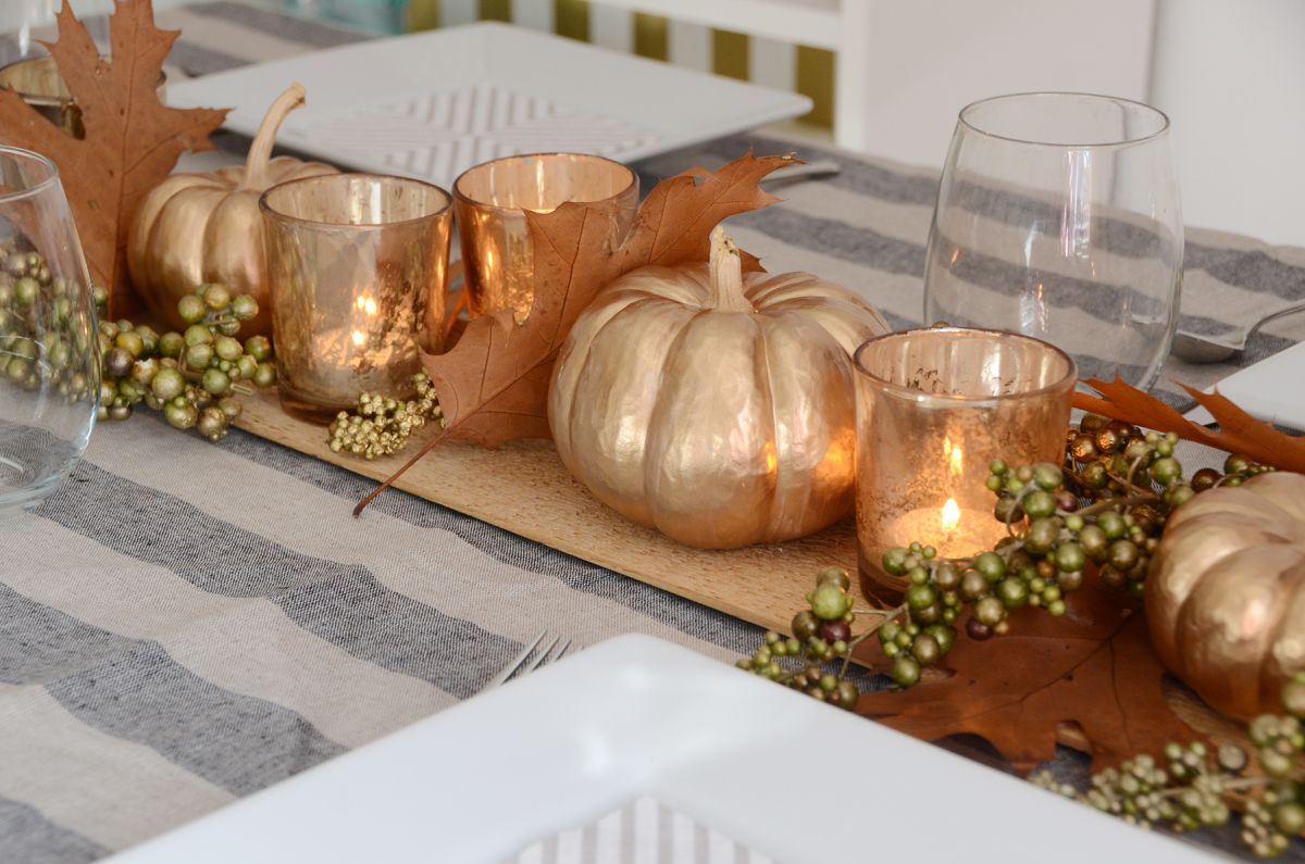Beautiful diy thanksgiving table centerpiece