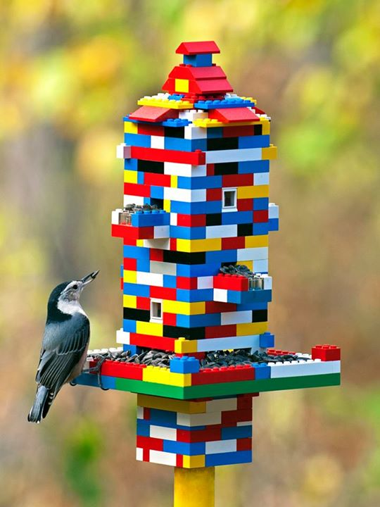 Bird feeders lego crafts