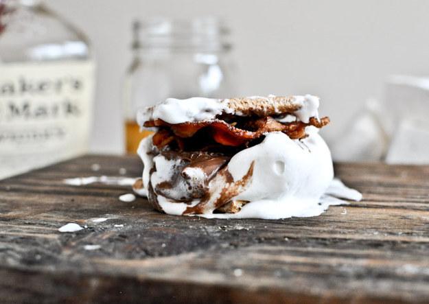 Bourbon marshmallow bacon s'mores
