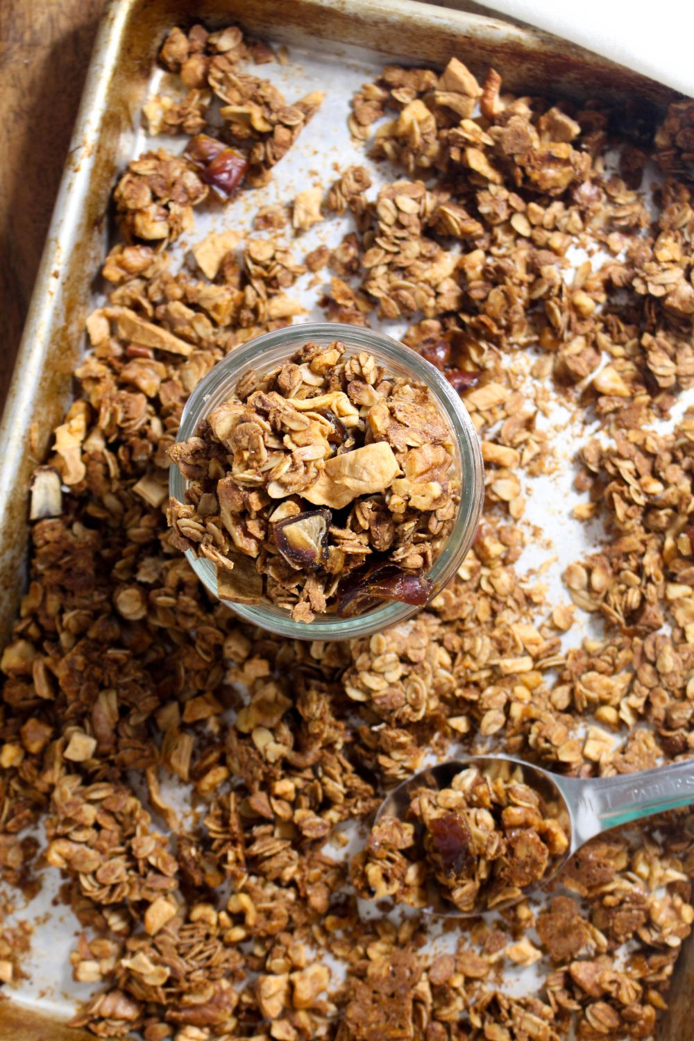 Caramel apple granola bake at 300 degrees