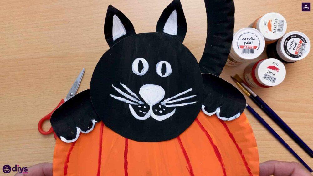 Cat pumpkin halloween door decorations