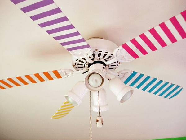 Ceiling fan painting diy