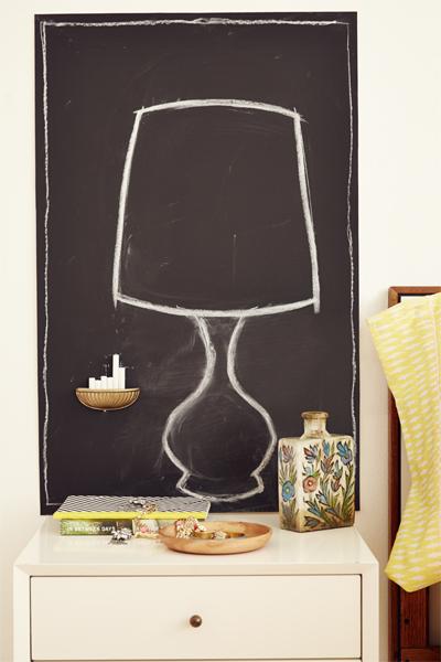 Chalkboard squares diy