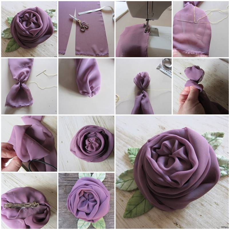 Chiffon rose with leaves