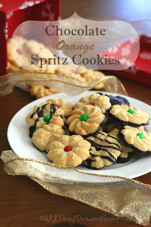 Chocolate orange spritz cookies