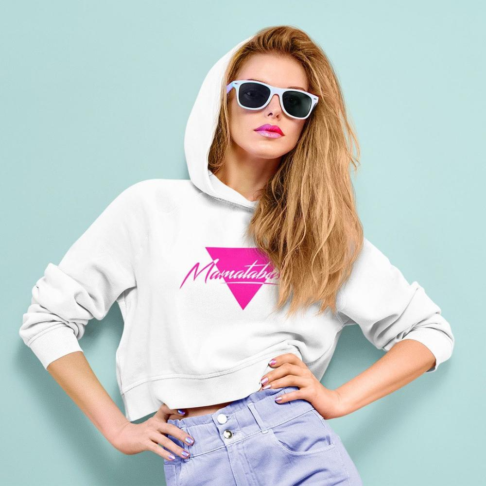 Cropped hoodie 80s style clothing