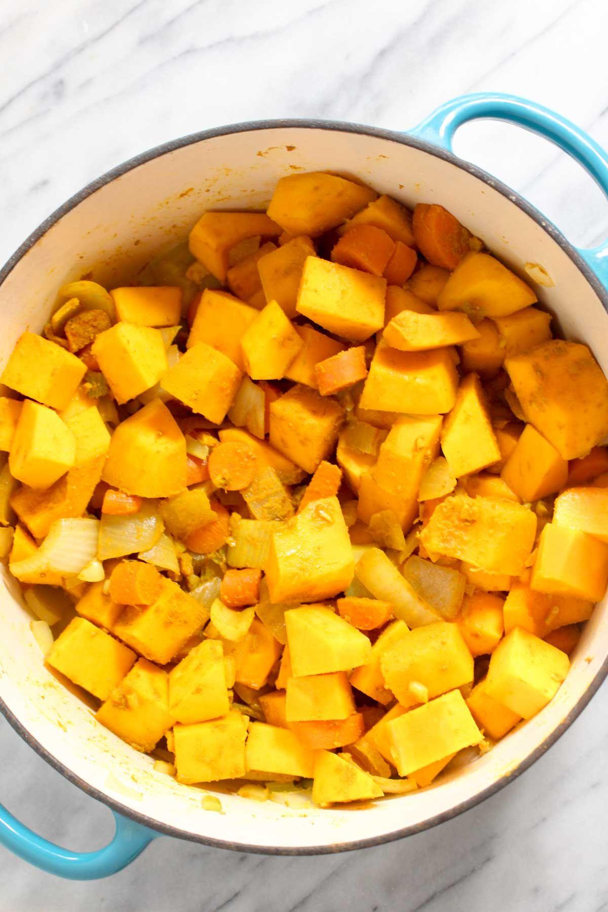 Curry butternut squash soup butternut squash