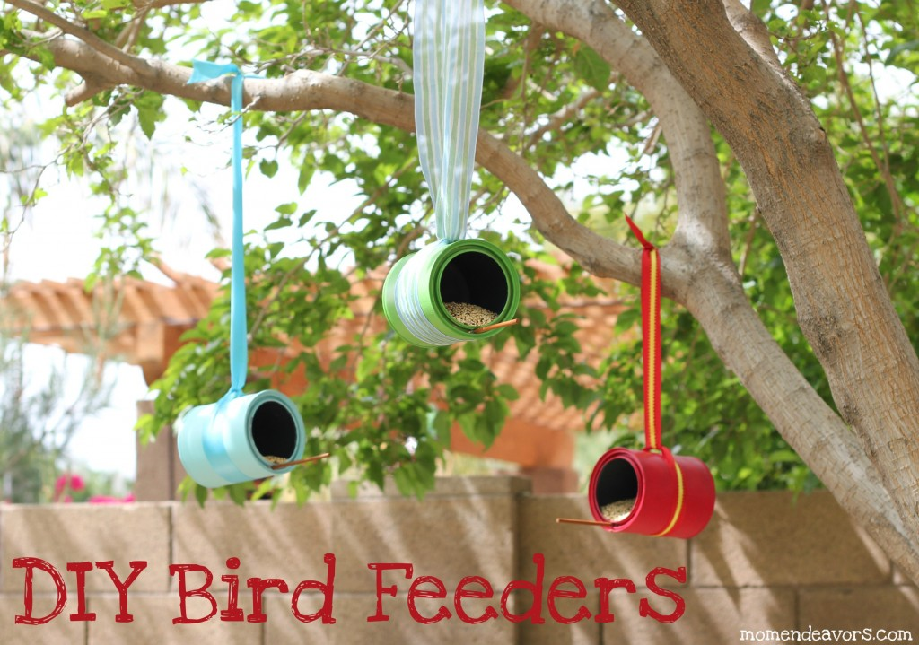 16. Paint Cans. Diy Bird Feeders