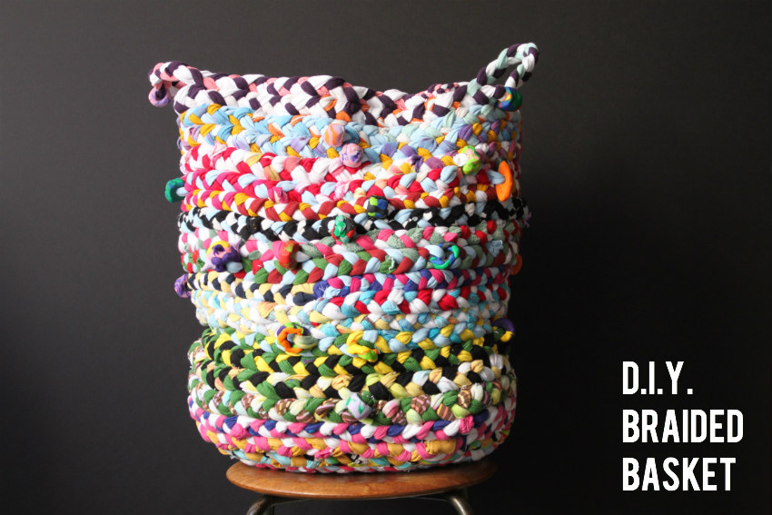 Diy braided basket
