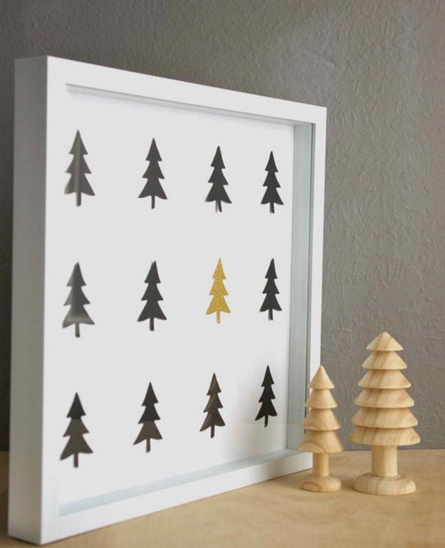 Diy christmas tree wall art