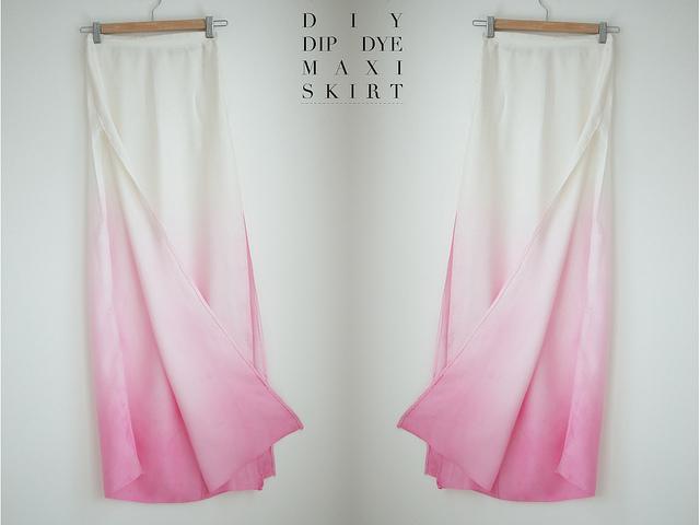 Diy dip dye maxi skirt