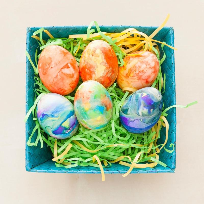 Diy easter egg tie dye project