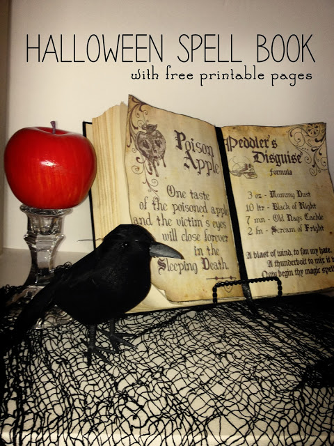 Diy halloween spellbook